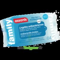 Assanis Family Lingette Antibactérien Mains Pochette/64 à MONTPELLIER