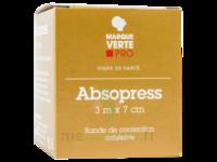 Absopress Bande Contention Cohésive 3m X 7cm – Blanc à MONTPELLIER