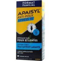 Apaisyl Anti-poux Xpress 15' Lotion antipoux et lente 100ml+peigne à MONTPELLIER